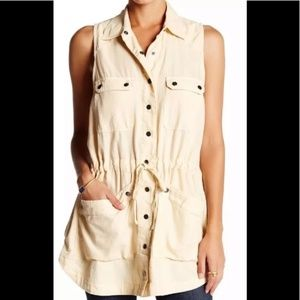 Free People Too Far Sleeveless Utility Vest Tunic
